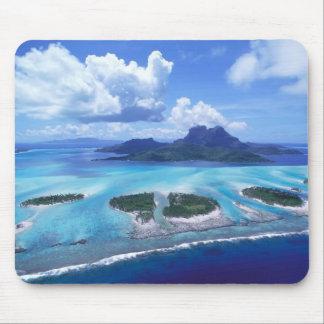 Island paradise mouse pad