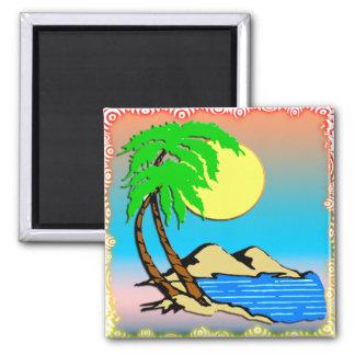 Island Paradise Refrigerator Magnets
