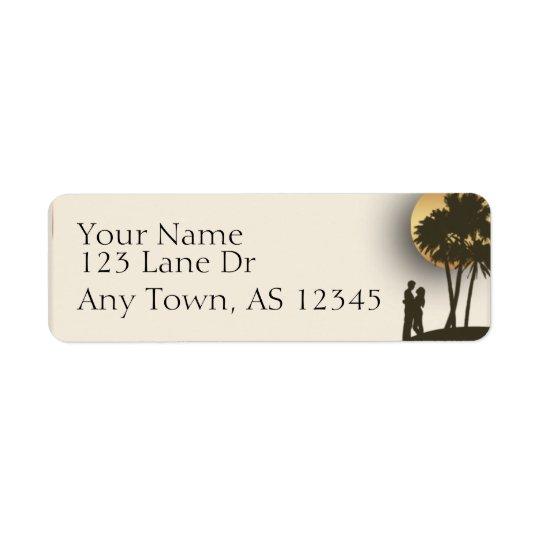 Island Paradise Return Address Return Address Label