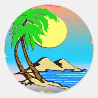 Island Paradise Round Sticker