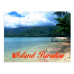 Island Paradise Travel Postcard