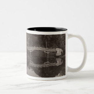 Island pavilion in the Cantanement Garden Two-Tone Coffee Mug