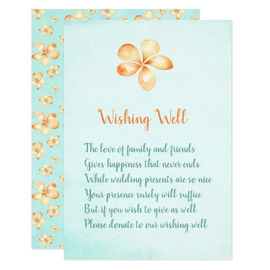 Island Plumeria Wedding Wishing Well Cards