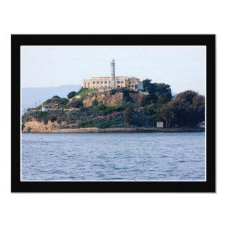 Island Prison, Alcatraz 11 Cm X 14 Cm Invitation Card
