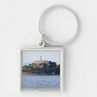 Island Prison, Alcatraz Silver-Colored Square Key Ring