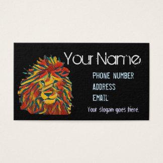 Island style business card, Rasta lion Business Card