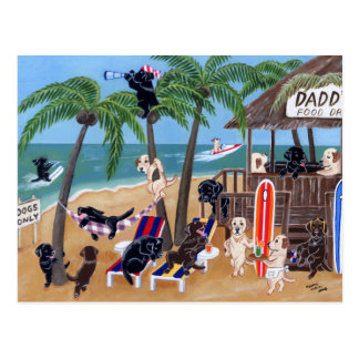 Island Summer Vacation Labradors Postcard