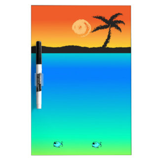 Island Sunset Dry Erase Board