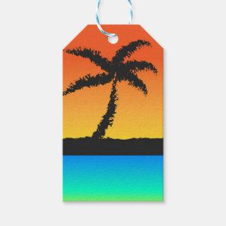 Island Sunset Gift Tags