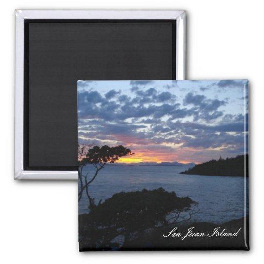Island sunset magnet