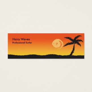Island Sunset Mini Business Card