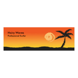 Island Sunset Pack Of Skinny Business Cards
