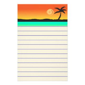 Island Sunset Stationery