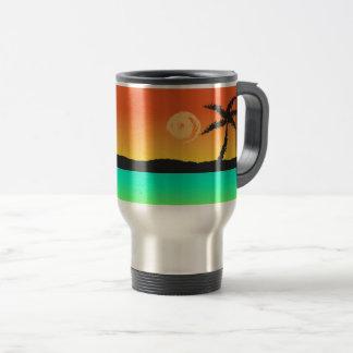 Island Sunset Travel Mug
