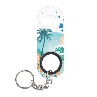 Island Surf Mini Bottle Opener With Keychain