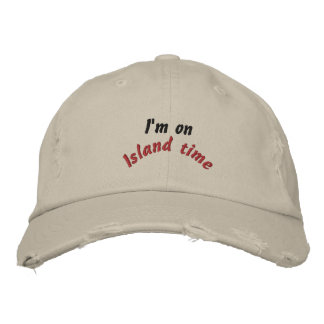 Island time embroidered cap