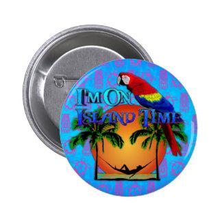 Island Time In Hammock 6 Cm Round Badge