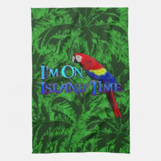 Island Time Parrot Tea Towel