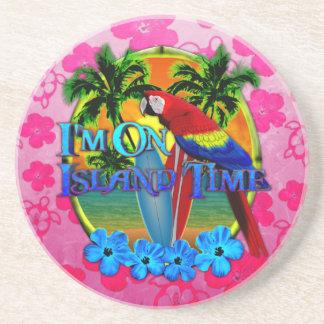 Island Time Sunset Beverage Coasters