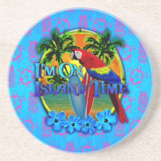 Island Time Sunset Drink Coasters