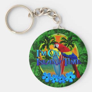 Island Time Sunset Keychains
