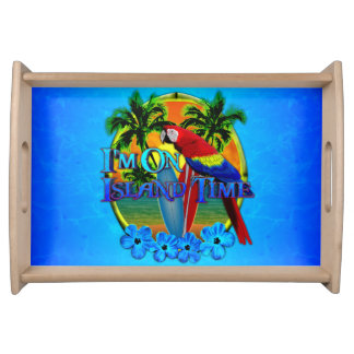 Island Time Sunset Serving Tray