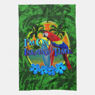 Island Time Sunset Tea Towel