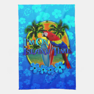 Island Time Sunset Tea Towel