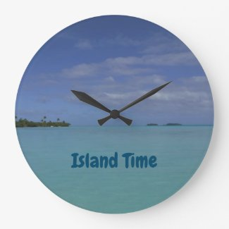 Island Time Tropical Beach Clock