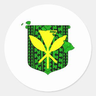 Island Tribal Kanaka Maoli Classic Round Sticker