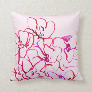 Island Tropical Orchid Pink Pillow