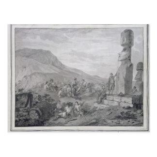 Islanders & Monuments of Easter Island, 1786 Postcards
