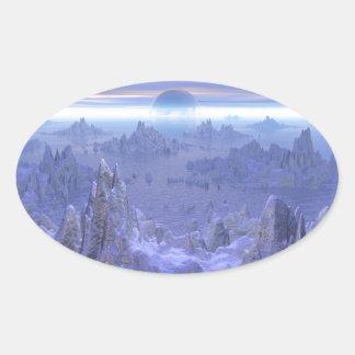 Islandia Evermore Oval Sticker