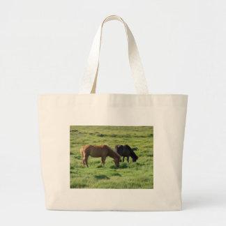 Islandpferde Canvas Bags