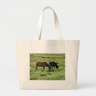 Islandpferde Large Tote Bag
