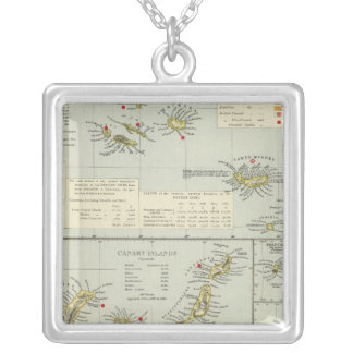 Islands, Atlantic Ocean Silver Plated Necklace