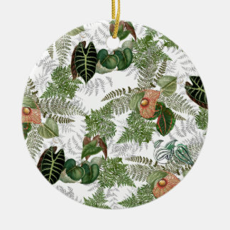 Islands Ferns Flowers Tropical Christmas Ornament