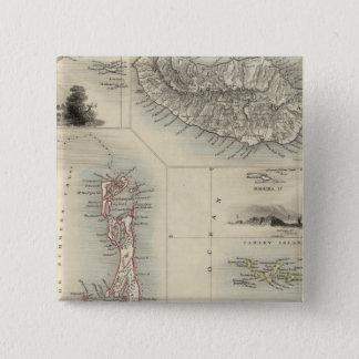 Islands In The Atlantic 15 Cm Square Badge
