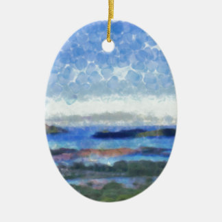 Islands in the Indian Ocean Ceramic Oval Decoration