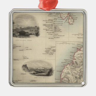 Islands In The Indian Ocean Christmas Ornament