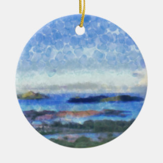 Islands in the Indian Ocean Round Ceramic Decoration