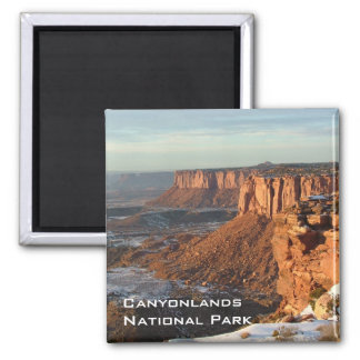Islands in the Sky Square Magnet