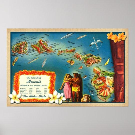 Islands of Hawaii Poster