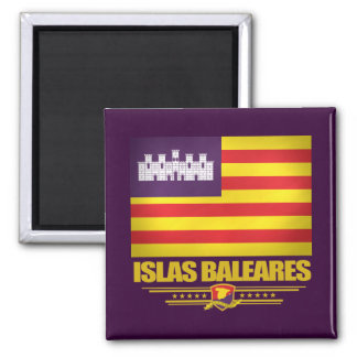 Islas Baleares (Balearic Islands) Square Magnet