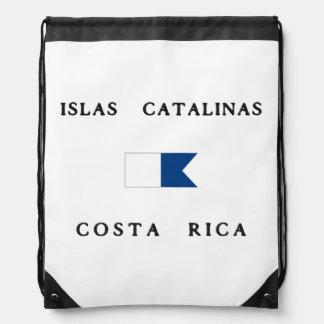 Islas Catalinas Costa Rica Alpha Dive Flag Drawstring Bag