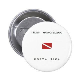 Islas Murcielago Costa Rica Scuba Dive Flag 6 Cm Round Badge