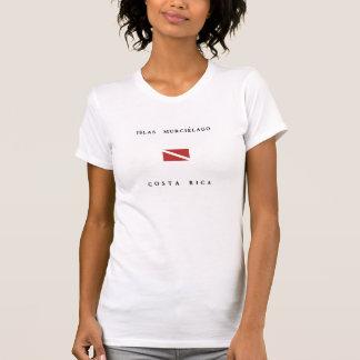 Islas Murcielago Costa Rica Scuba Dive Flag T Shirt
