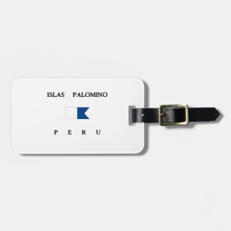Islas Palomino Peru Alpha Dive Flag Luggage Tags