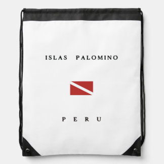 Islas Palomino Peru Scuba Dive Flag Backpacks