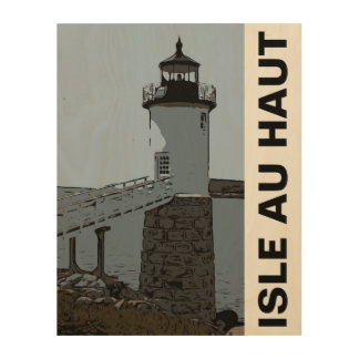 ISLE AU HAUT LIGHT WOOD WALL ART